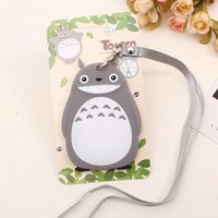 Wholesale Ic Set - cute work luggage cards case cover sets women lovely animal silicone bank credit bus ID IC card holders with lanyard for kids