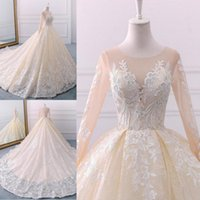 Wholesale charming hot sexy girls - New Hot A Line Wedding Dresses Vintage Lace Appliques For Pretty Girl Designed Charming Wedding Gowns