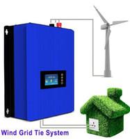netz angeschlossener wechselrichter großhandel-MPPT 2000W Wind Power Grid Tie Wechselrichter mit Kipplast Controller / Widerstand für 3 Phase 45-90 V Windturbine Generator LLFA