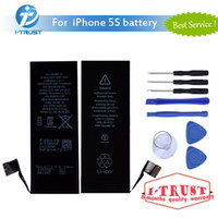 Wholesale Apple Internal - Top Quality Replacement Battery For Iphone 5 5S 5C Battery Li-ion Bullit-in Internal Replacement Battery with free tools & Free Shipping