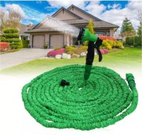 Wholesale expandable magic hose for sale - 100FT Expandable Flexible Garden Magic Water Hose With Spray Nozzle Head Blue Green with retail box