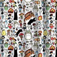 Wholesale shower curtain cartoon resale online - New Design Miracille Totoro Cartoon Shower Curtains Bathroom Decor Bath Curtains Waterproof Polyester Fabric Kid s Curtain hooks