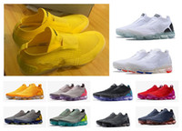 Wholesale air cushioned trainers resale online - 2018 New Air cushion Moc Laceless Running Shoes Triple Designer Men Women Sneakers Fly knit Sports Athletic Trainers Chaussures