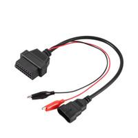 vag диагностический кабель оптовых-3Pin к 16Pin OBD диагностический инструмент 12V пластиковый адаптер кабель разъем автомобиля удлинительный кабель для Fiat для Alfa для Lancia 12V