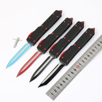 Wholesale model 59 for sale - MTautoTF models War Star D2 colorful blade double action Hunting Pocket automatic folding collection knives Xmas gift for men