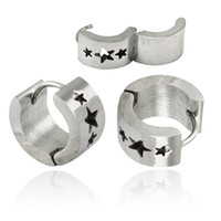 Wholesale Clip Earrings Star - fashion Hot sale Round Circle Earring high quality hoop earring Huggie Clip special design printed star ear clip