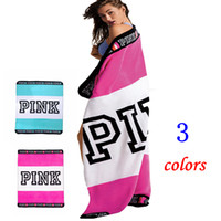 Wholesale Pink Hand Towels - PINK Blanket Flannel Blankets Soft Coral Beach Towel Blankets Air Conditioning Rugs Comfortable Carpet Throw Blanket 130*160cm HHA2