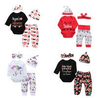 roupas para meninas venda por atacado-Conjuntos de Roupas de bebê recém-nascido 87 Designs Abóbora de Halloween Meu Primeiro Natal Unicórnio Dinossauro Irmã Pequena Irmão Man Mama Boy Girl Outfit