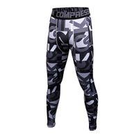 ingrosso corpo di pallacanestro-Pantaloni skinny mimetici Bodybuilding Pantaloni sportivi asciutti e veloci Pantaloni da basket da running Nero Bianco Taglia S-3XL
