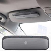 ingrosso altoparlanti vivavoce del bluetooth-Nuova visiera parasole TZ900 Multipoint Wireless Bluetooth Vivavoce Kit per auto vivavoce Altoparlante per musica audio per smartphone