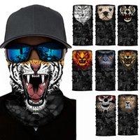 cara bufanda ciclismo al por mayor-Moda 3D Animal mascarilla divertido esquí esquí snowboard cara cuello máscara bufanda creativo deporte accesorios