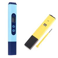 probador de ph al por mayor-Venta al por mayor- Conductividad EC de ASLT Digital 0-9999 Azul phmetro Medidor Probador Pen + PH Meter Hydroponics 0.0-14.0pH Reino Unido Herramienta de medición de agua