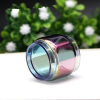 Wholesale e cig glass - Fat Extended Pyrex Expansion Bulb Rainbow Color Replacement Glass Tube for TFV12 Prince E cig Vape Atomizer Tank Ecig Vapor DHL