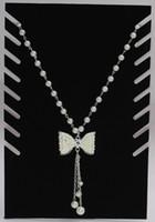 vitrina preta da jóia de veludo venda por atacado-Novo Atacado-Frete grátis Popular Black Velvet Colares Titular Show de moda Caso Display Stand Base de Exibição de Jóias