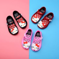 Wholesale hello kitty girl shoes for sale - Group buy Melissa Hello Kitty jelly shoes girl princess shoes summer new girl sandals color