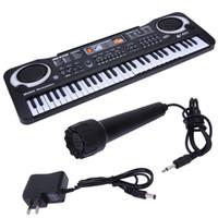 yukarı klavye toptan satış-61 Tuşlar Dijital Müzik Elektronik Klavye Anahtar Kurulu Elektrikli Piyano Çocuk Hediye, ABD Tak