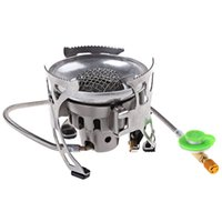 Wholesale light stove for sale - Group buy Light Gas Stainless Steel Quenching Furnace Cooker for Outdoor Survival Camping Hunting Manual Gas Stove Outdoor Stove