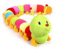 Wholesale Caterpillars Plush - Colorful Caterpillars Pillow Baby Doll Children Soft Stuffed Plush Animals Toys Lumbar Sleep Pillow Birthday Gift