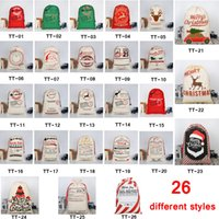 Wholesale indoor christmas decorations for sale - 26 STYLES Christmas Gift Bags new Christmas Bag Drawstring Bag With Reindeers Santa Claus Sack Bags for Santa Sack kid bag