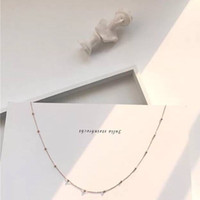 short 14k gold chains NZ - Choker Girl Necklace Japan and South Korea Slim Retro Spaced Beads Short Neck Chain Collar Chain.