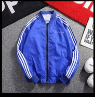 Wholesale jacket for cool online - Mens Jackets Fashion Tide Windbreaker Cool Hot Sale Mens Designer Jackets Sport Casual Coat for Men Stand Collar Spandex Zipper Size M XL