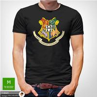 ingrosso maglietta felpata-Harry Potter Hogwarts Tshirt Uomo Natale unisex regalo di compleanno di Natale Grigio T-Shirt Uomo Ragazzo fresco bianco manica corta Custom XXXL Maglietta squadra