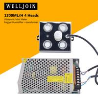 nebulizador al por mayor-1200ML / H 4 cabezas ultrasónica niebla fabricante Fogger humidificador + transformador