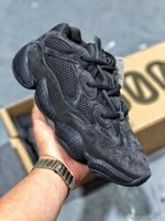 Wholesale Latest New Wave Runner Kanye West Top Quality Desert Rat Utility Black Men Women Running Shoes Sport Sneakers yeezy SPLY