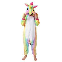 ingrosso pigiami di estate onesie-L'autunno e l'inverno Pajamas Set del fumetto degli indumenti da notte unisex pigiama in flanella unicorno Animal sleewear Stitch