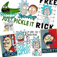 Wholesale funny anime t shirts - 2018 Men's Rick and Morty Funny Anime Apparel T-shirt Casual Short sleeve O-Neck homme Summer Just do it T shirt Swag Tshirt