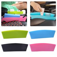 Wholesale plastic key holder case online - Auto Car Seat Console Organizer Side Gap Filler Pocket Organizer Storage Box Bins Bag Pocket Holder Console Slit Case for Phone Key