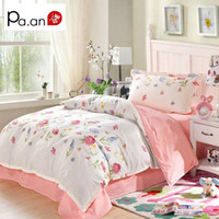 Wholesale Cotton Sheets For Kids Cartoons - New 3pcs Bedding Set for Kids Cotton Duvet Cover Sheet Pillowcase Cartoon Printed Comfortable School Back Gifts for Children
