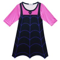 Wholesale Chinese Dress Cosplay - long sleeve Vampirina Dresses for Girls Party Dress Children Cosplay Costumes Carnival Kids Clothes Halloween Clothing