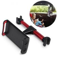 stehen kopfstütze großhandel-Auto Kopfstütze Halterung Auto Rücksitz Halter 360 Grad Drehen Stand Auto Kopfstütze Halterung für 4-11 Zoll Telefon Tablet PC iPad
