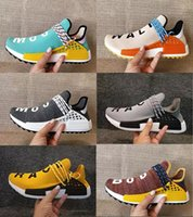 Wholesale Red Trails - Cheap 2018 NMD Human Race Pharrell Williams Hu trail NERD Men Women Running Shoes NMD noble ink core Black Red sports Shoes eur36-47