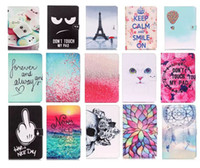 Wholesale wholesale printing ipad covers for sale - Black Eye Dont Touch My Pad Dreamcatcher Wind Chimes Effile PU Leather Case for ipad mini Pro ipad