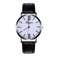 мужские кожаные часы тонкие оптовых-Ultra Thin Men Wrist Watch  Quartz Watch Creative Round Silver Dial Business Men Leather Watches 2018 Reloj Hombre