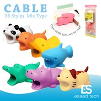 Wholesale Hot styles Cable Bite animal bite cable Protector Accessory toys cable bites dog pig elephant axolotl for iPhone smartphone Charger Cord