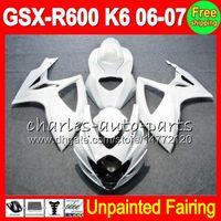 Wholesale k6 kit for sale - Group buy 8Gifts Unpainted Full Fairing Kit For SUZUKI GSX R600 GSXR600 GSXR GSX R600 K6 Fairings Bodywork Body