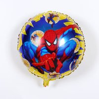 Wholesale Justice League Wholesale - 50pcs lot 18inch super heros justice league balloon spiderman batman PJ MASKS balloons inflatable superman Captain aluminum Balloon