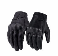 Wholesale gloves for touch - 2018 Motorcycle Gloves Moto GP Glove Leather Touch Screen For Men Motocross Goatskin Cycling Racing Guantes Moto Luvas E