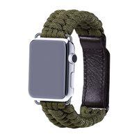 ingrosso vestito verde della mela-2018 New Outdoor Sport Verde cinturino in nylon cinturino per Apple Watch Iwatch 1/2/3 Cinturino cinturini regolabili