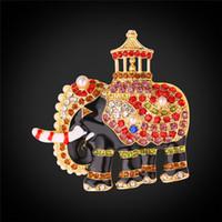 österreichisches tier großhandel-U7 frauen Brosche / Pin Thailand Elefant Design Österreichischen Österreichischen Strass Tier Brosche Für Kragen Mantel Dekoration Zubehör
