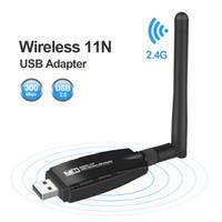 tp mini al por mayor-Mini USB Adaptador Wifi Antena Wi-fi Tarjeta de red Lan Tarjeta de red inalámbrica Dongle 300Mbps 20dB 802.11b / n / g Adaptador Ethernet USB