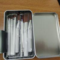 Wholesale iron box brush online - Makeup Brushes Professional Brush Sets Brands Make Up Foundation Powder Beauty Tools Cosmetic Brush Kits with Retail Iron Box