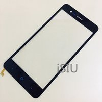 ingrosso zte touch glass-Touch Screen per ZTE Blade A510 BA510 BA510C Cellulare Touchscreen Panel Front Glass Lens Sensor 5.0 '' Display Nero NO LCD