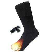 3V Thermal Cotton Heated Socks Men Women Battery Case Battery Operated Winter Foot Warmer Electric Socks Warming