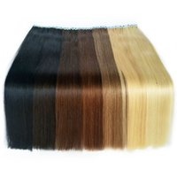 Wholesale brazilian remy hair extensions online - Tape In Human Hair Extensions Skin Weft Tape Hair Extensions g pieces Brazilian Hair Hablonde Double Sides Adhesive Cheap