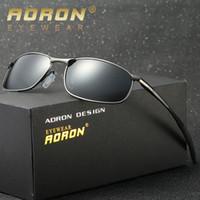 ddf7295140033 AORON Marca Designer Original Masculino Óculos De Sol Dos Homens Óculos  Polarizados Polícia Óculos de Sol HD Condução Espelho Óculos oculos De Sol