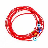 rote böse augenschmuck großhandel-20 teile / los gemischt Glück Hamsa String Evil Eye Glückliche Rote Schnur Einstellbar Armband DIY Schmuck
